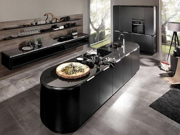 cozinha preto na decoração