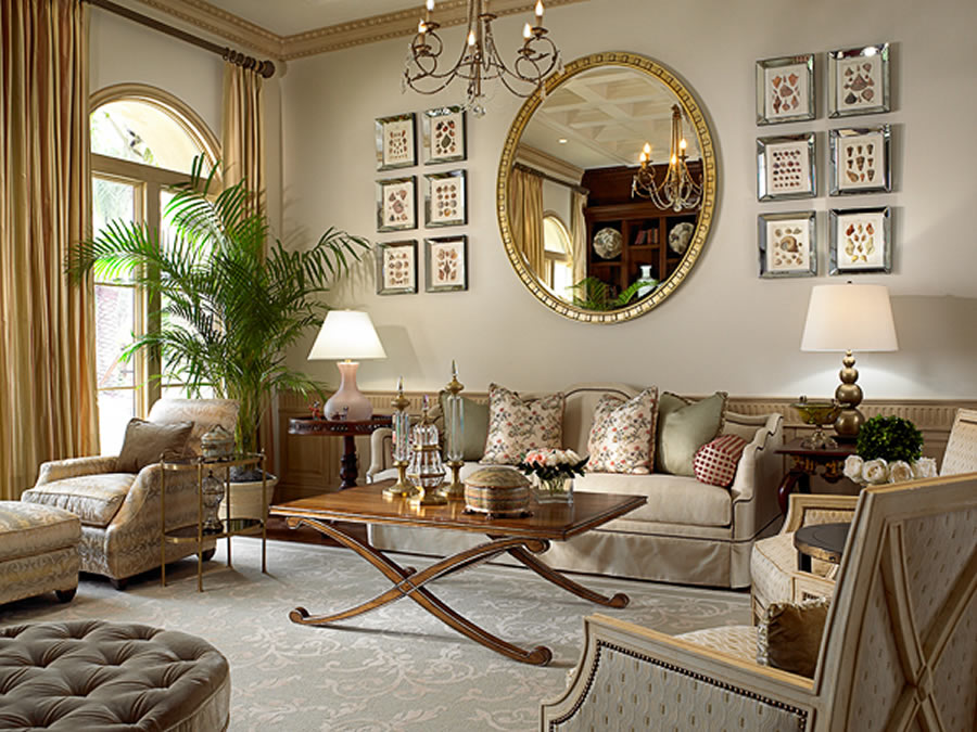 Classic-Elegant-Home-Interior-Design-of-Old-Palm-Golf-Club-by-Rogers-Design-Group-Living-Room