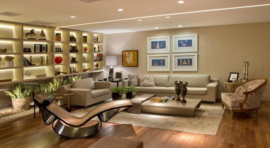 sala de estar com móveis sob medida