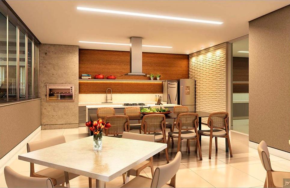 Espaço Gourmet / Empreendimento Residencial Edifício Zandona Ephram