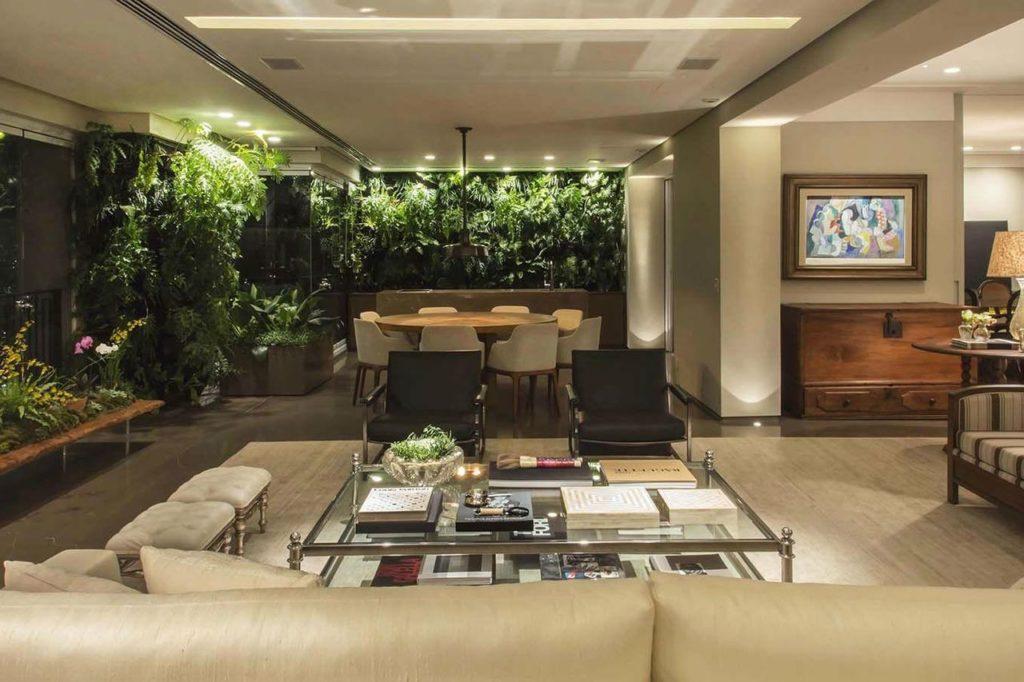 Jardim de inverno sala de estar