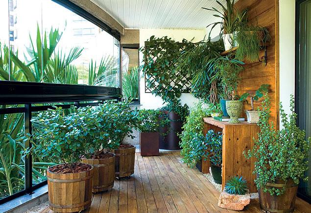 Jardim de Inverno na varanda