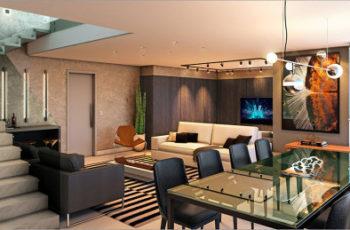 Possibilidades com a sala para dois ambientes